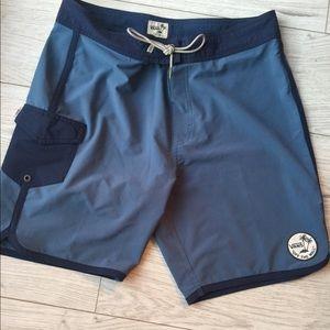 Men's Vans board shorts surf baggies blue pocket